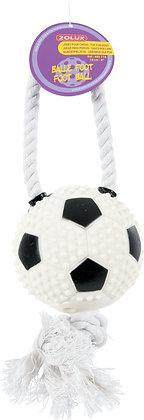 Jouet vinyle balle de foot + corde 10 cm
