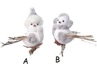 Susp oiseau mouss s/bran bl