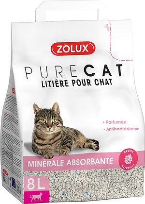 Litière Pure Cat minérale absorbante parfumée antibactérienne 8L