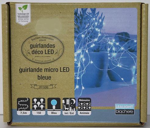 Guirlande micro led bleu 7.5m