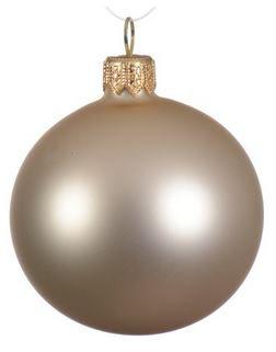 Boules uni mat perle x6
