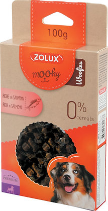 MOOKY Friandises chien Premium Woofies Saumon 100g