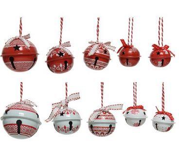 Set 14 cloches fer par sac rouge/blanc