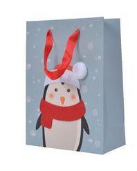 Sac papier feutr a/fig  pingouin