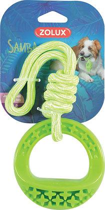 Jouet TPR corde rond Samba 26cm vert