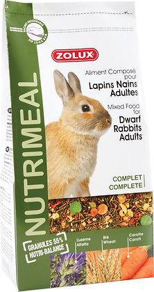 Aliment composé pour lapins nains adultes 800g