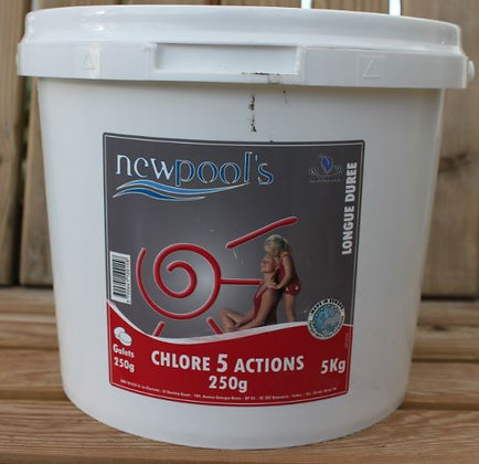 Chlore 5 actions galets 5kg