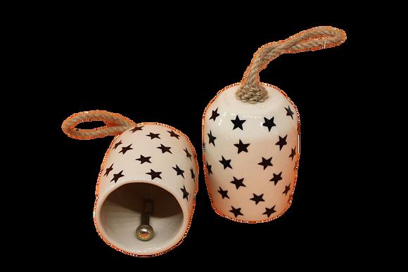 Cloche en porcelaine avec motifs