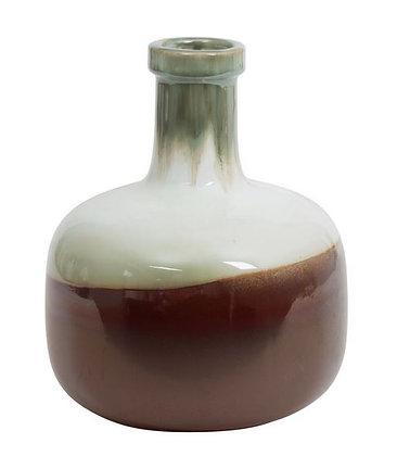 Vase droit h22 fuji vert brun