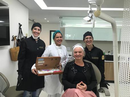 Demonstração em prática clínica pela Profa.Marília
