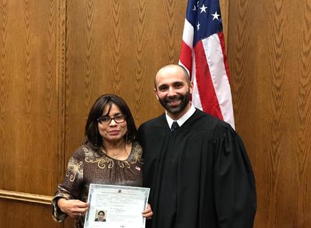 Elva Cervantes becomes a Citizen