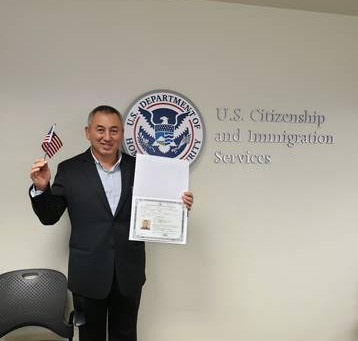 Aleksandr Magai becomes a U.S. Citizen