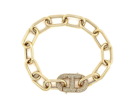 Diamond Mariner Link Chain With Connector