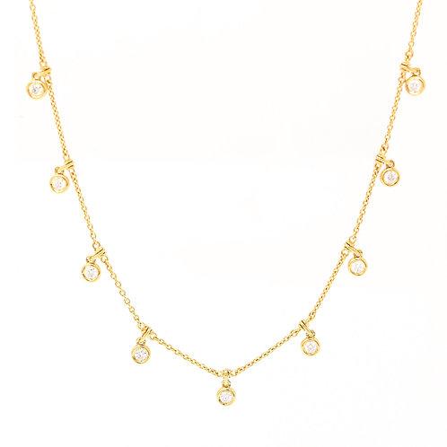 Hanging Diamond Bezel Necklace