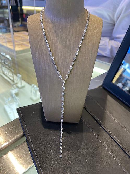 Graduated Pear Shape Diamond Lariat