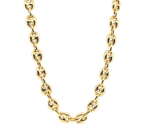 Small Puffed Mariner Link Chain