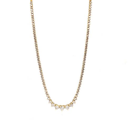 Diamond Riviera Bolo Necklace
