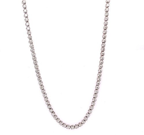 Diamond Buttercup Tennis Necklace