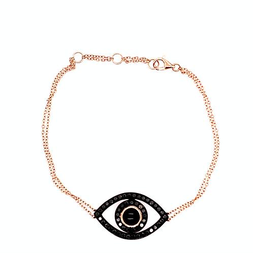 Black Diamond Evil Eye Bracelet