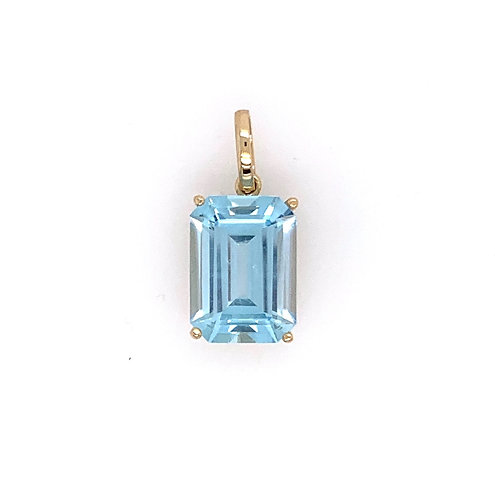 Blue Topaz Charm