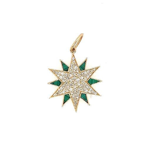 Malachite And Diamond Star
