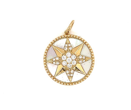 Mother Of Pearl Compass