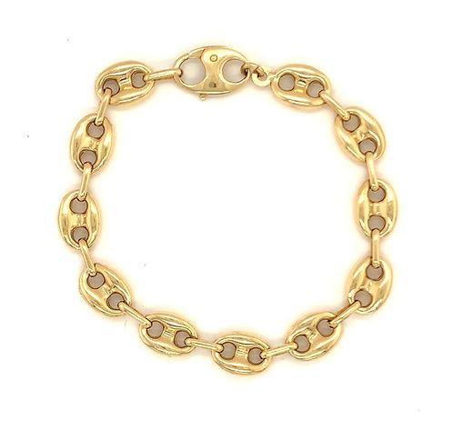 Small Puffed Mariner Link Bracelet