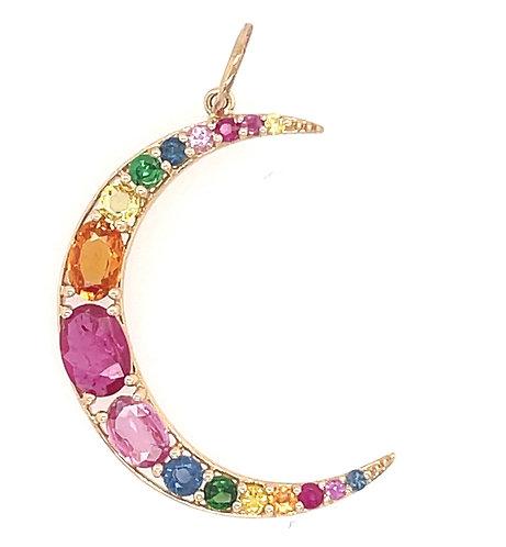 Rainbow Sapphire Cresent