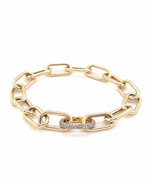 Diamond Link Soft Rectangle Bracelet