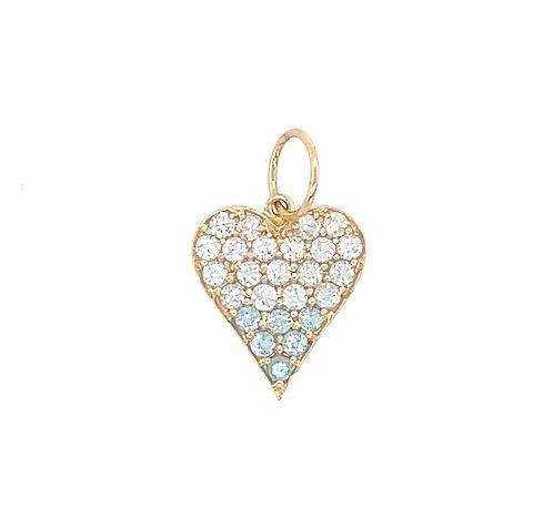 Aqua Ombre Mini Heart
