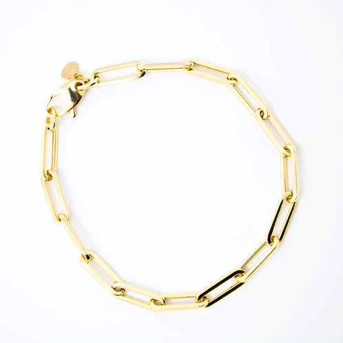 Small Paperclip Chain Bracelet