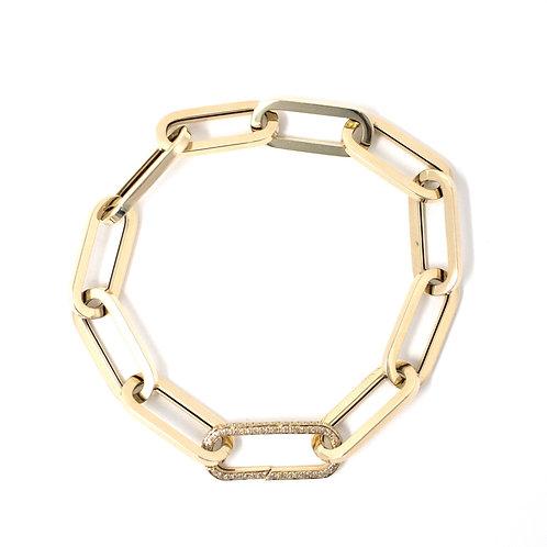 XL Paperclip Open Ended Bracelet