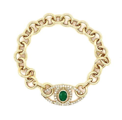 Evil Eye Link Bracelet