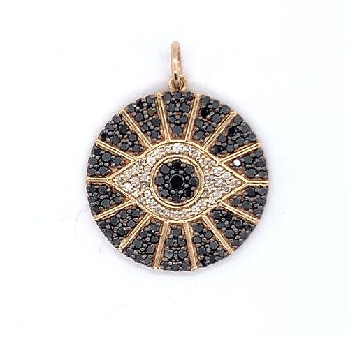 Black Diamond Evil Eye Charm