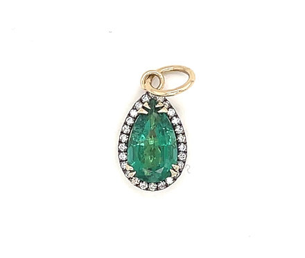 Emerald And Diamond Charm