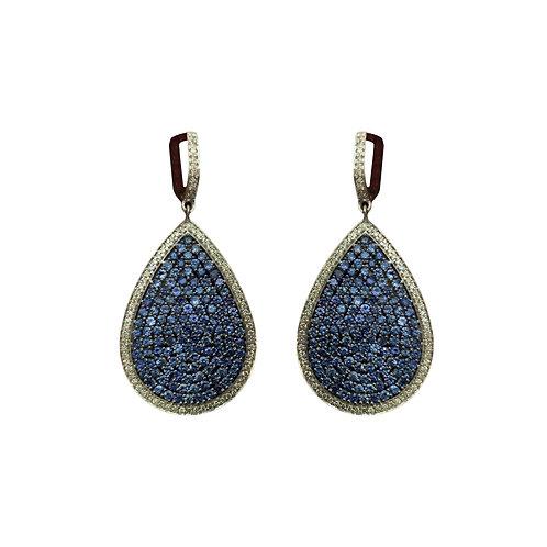 Sapphire and Diamond Teardrop Earrings