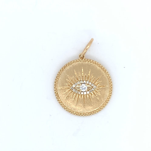 Gold Evil Eye Charm