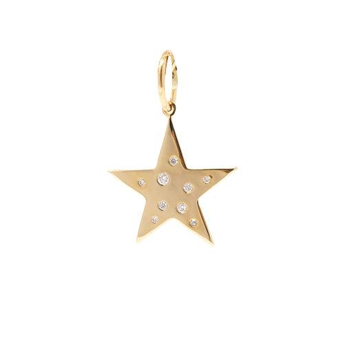 Scattered Diamond Star Charm
