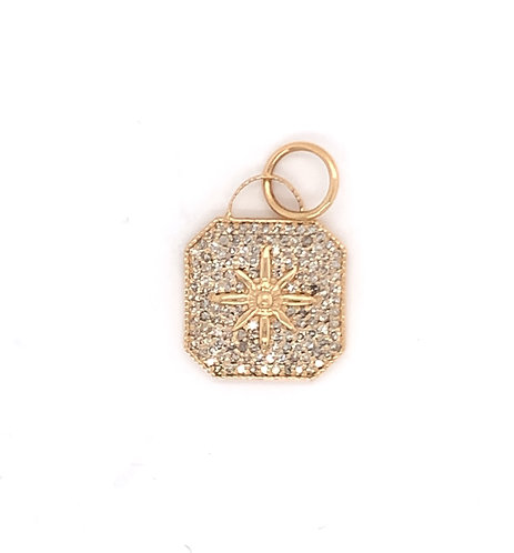Diamond Pave Square Charm