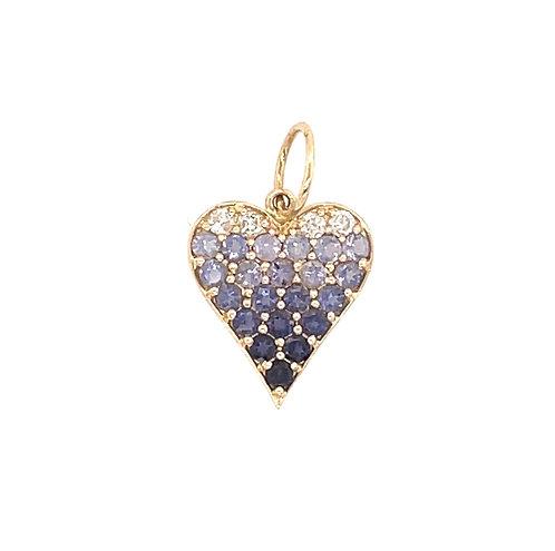 Sapphire Ombre Mini Heart