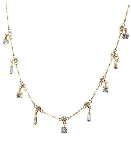 Hanging Multi Stone Necklace