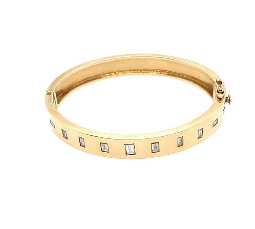 Diamond Baguette Bangle Bracelet