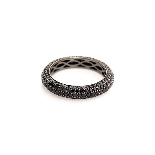 Black Diamond Pave Eternity Band