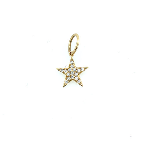 Mini Pave Diamond Star Charm