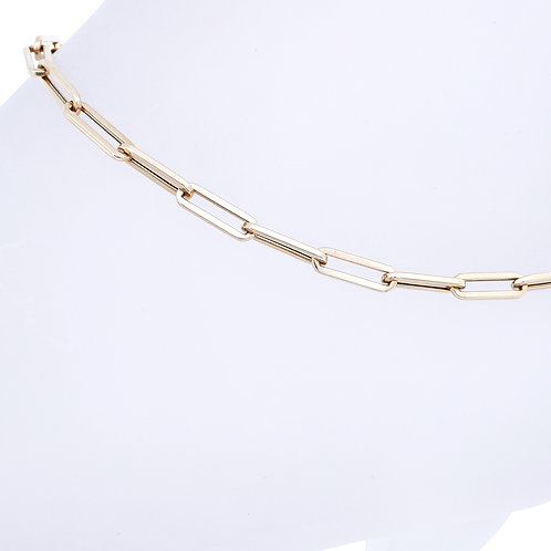 Mini Paperclip Anklet
