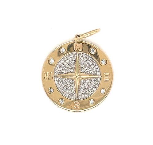 Diamond Compass Charm