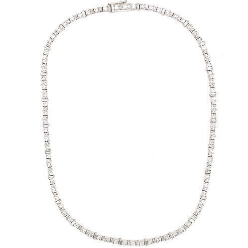 Diamond Baguette Tennis Necklace