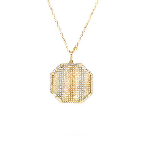 Diamond Octagon Necklace