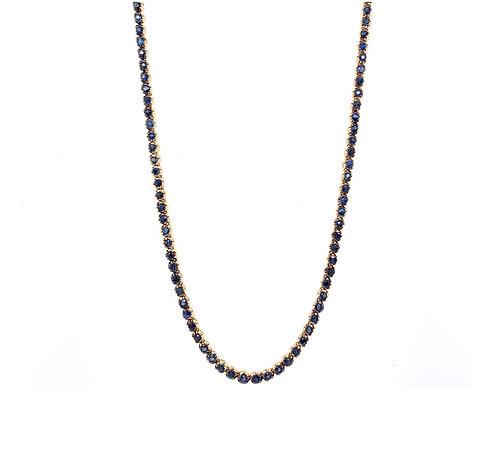 Sapphire Tennis Necklace