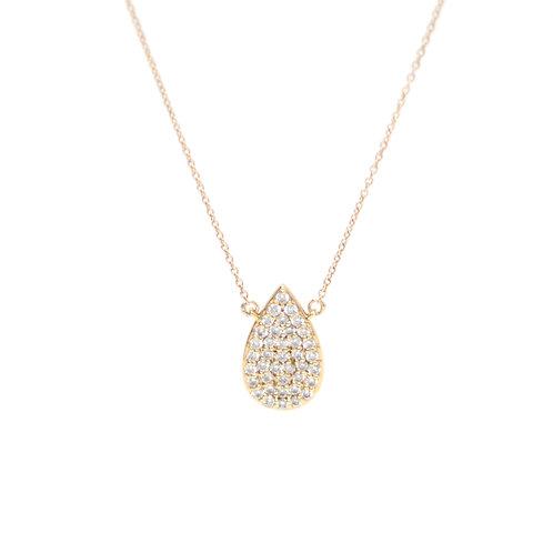 Diamond Pave Pear Necklace